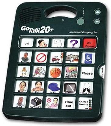 Изображение Go Talk 20+ – komunikator, urządzenie do komunikacji alternatywnej
