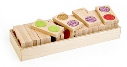 Obrazek Domino dotykowe duże - gra dla dzieci widzących i niewidomych