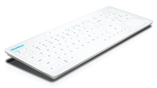 Obrazek CleanKeys - specjalistyczna, płaska klawiatura komputerowa