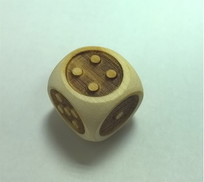 Picture of Wooden Braille Cube