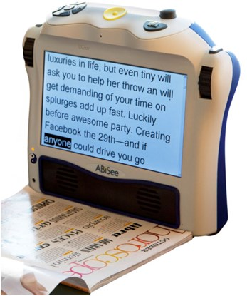 Picture of Eye-Pal® Ace Plus  portable scanner, reader, and video magnifier