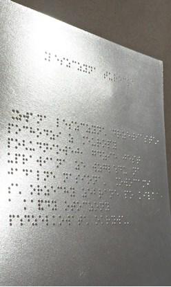 Wydruk brajlowski na folii brajlowskiej