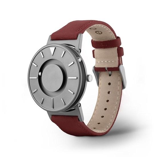 Obrazek Bradley Canvas Crimson – zegarek na rękę