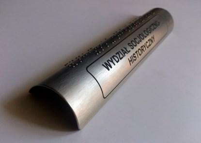 Picture of Nakładki z aluminium anodowanego z brajlem i z grawerowanym laminatem