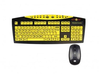 Obrazek Keys-U-See - klawiatura bezprzewodowa, z dużymi klawiszami i z myszą