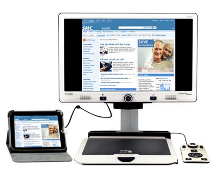Obrazek Merlin Elite Pro  - stacjonarny powiększalnik wideo z OCR i TTS